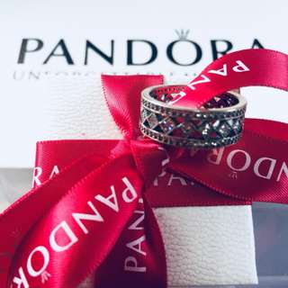 Pandora Petite Circle Ring with Zirconia Stone 92.5 Sterling Silver (Available Sizes 5-9)