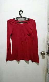 Dark Red Long Sleeves