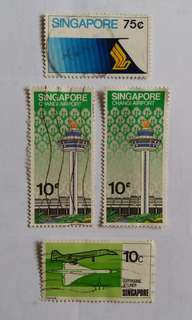 Vintage Singapore Stamps  (Self Collect @ Blk 113 Jur. East St.13,600113)