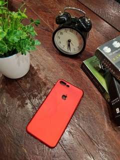 Red jelly case for Iphone 7 plus