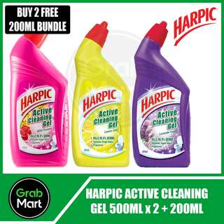 HARPIC ACTIVE CLEANING GEL 500ML X 2 + 200ML