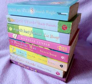 Romance Chic lit books (set of 8)
