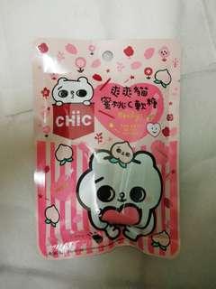 Peach gummy made in Taiwan