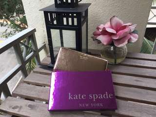 Kate Spade Highland Drive Stacy Wallet in Rose Gold