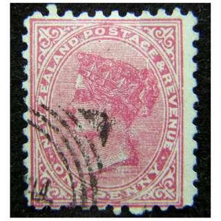 1880年英屬紐西蘭英女皇維多利亞像1便士郵票