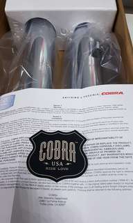 "3"" Cobra slip-on for Harley Davidson"