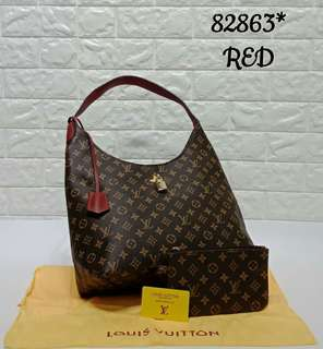 Louis Vuitton Hobo Bag Red Monogram