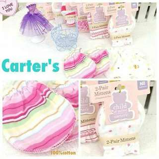 2 pairs Carter's Baby Mittens - PINK