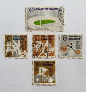 Vintage Singapore Stamps - SEAP GAMES 1973 SINGAPORE -  (Free Normal Mail)