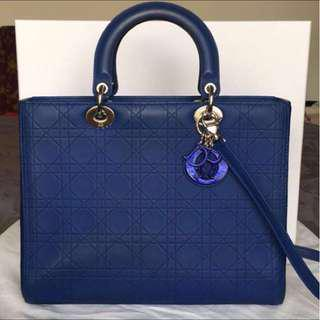 Lady Dior Special Edition Matte Blue BRAND NEW