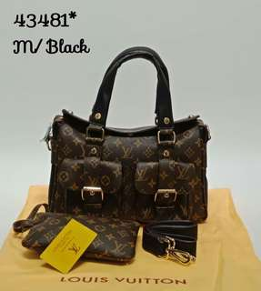 Louis Vuitton Manhattan Monogram Black