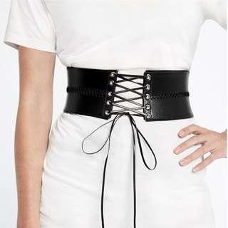 BARDOT black lace corset belt