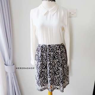 PL86 baju dress kemeja lace