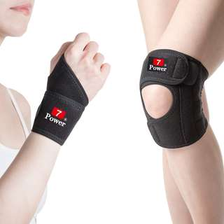 7Power Medical Professional Wrist Support x2 + Knee Support(M) x2