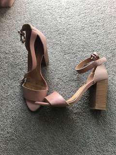 Blush/Mauve Windsorsmith Block Heels