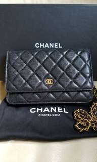 Chanel Wallet On Chain Calfskin 黑金牛皮WOC