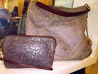 Bonia Sling Bag & Wallet