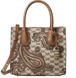 BNWT MK Mercer Paisley MD Messenger Bag