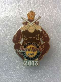 "Hard Rock Cafe Pins - LAS VEGAS (ORIGINAL) HOT 2013 ""MIZARU"" SEE NO EVIL MONKEY PIN!"