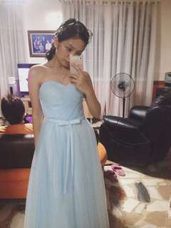 Powder blue gown for rent