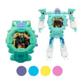 Jam Tangan Sport Digital Motif Robot Transformers - FIN-512 C