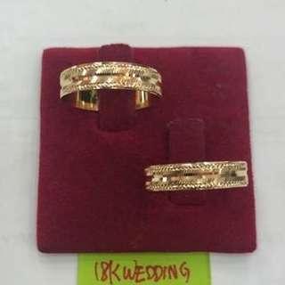 18K Saudi Gold Couple ring 👉SET