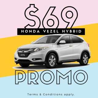Honda Vezel Hybrid (Used)