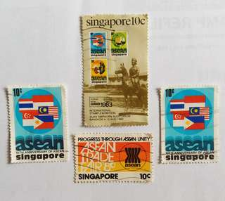 Vintage Singapore Stamps  (Free Normal Mail)