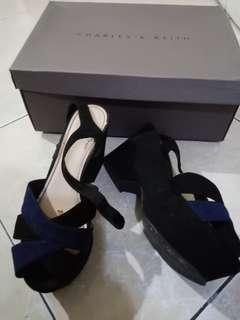 Sepatu charles&keith bru 2x pakai