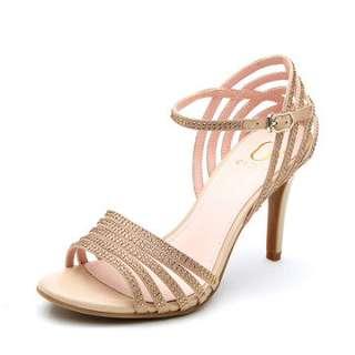Daphne/達芙妮圓漾時尚氣質優雅細跟超高跟涼鞋全新清倉 挑戰最低價 任選3雙免運費