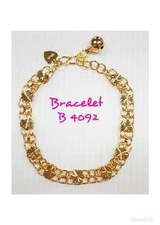 Heart & Flower gold plating bracelet.