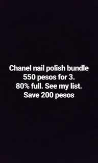 Chanel nail polosh