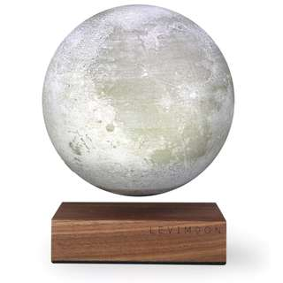 [IN-STOCK] LeviMoon LEVITATING MOON LIGHT in White/Walnut