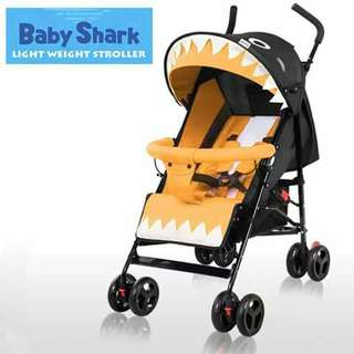 Baby Shark Lightweight Stroller - YELLOW