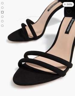 Stradivarius Black Sandals