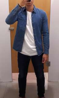Jaket Denim TOPMAN