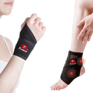 7Power Medical Professional Wrist Support x2 + Ankle Support x2