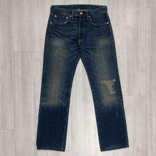 🚚 Levi's Levis 00501-1370 W31 L34,刷色破壞直筒排釦牛仔褲 501 510 511