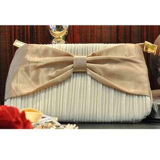 全新 金色 可愛蝴蝶結 化妝袋 Bow Makeup bag