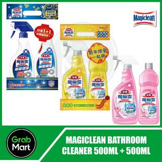 MAGICLEAN BATHROOM CLEANER/MOLD REMOVER 500ML + 500ML
