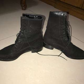 Karl Lagerfeld boots leather MADE IN FRANCE