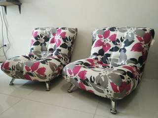 Avino Fine Living Floral Chairs