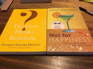 BN guru drinks bourbon, not for happiness by Dzongsar Jamyang Khentse Rinpoche book