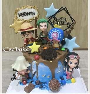 立體蛋糕 3Dcake 百日宴蛋糕 生日蛋糕 onepiececake onepiece蛋糕 海賊王蛋糕 海賊王cake