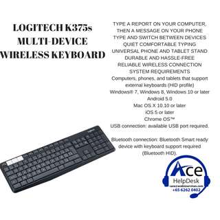 🚚 BNIB LOGITECH K375s MULTI-DEVICE WIRELESS KEYBOARD