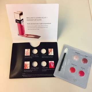 cle de peau beaute Radiant Lip Gloss sampler