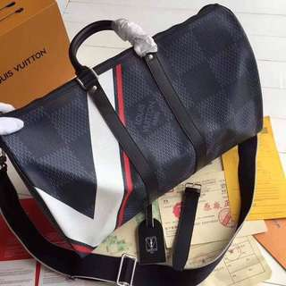 LV Bandouliere Keepall 45 Damier Graphite
