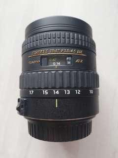 Tokina Fisheye 10-17 F3.5-4.5 DX