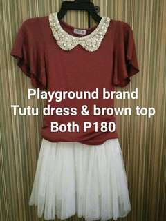 Tutu dress with brown top TAKE 2