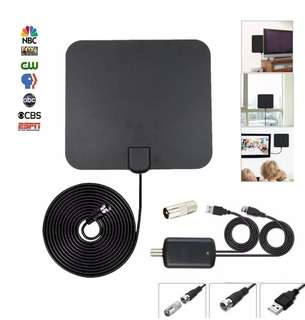Indoor Digital HDTV Antenna Amplified 50 Mile Range 4K HD VHF UHF Freeview For Life Local Channels Broadcast For All Types Of Home Smart Television